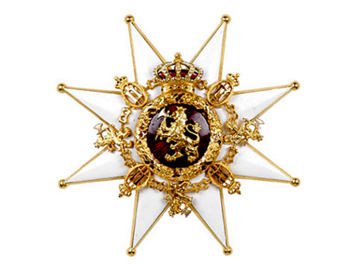 The Norweigan Lion: Grand cross. Photo: Kjartan Hauglid, the Royal Court.