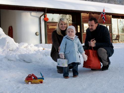 La princesa comenzó en el jardín de niños en Asker el 4 de enero de 2006. Foto: Lise Åserud, NTB scanpix